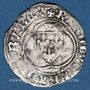Monnaies Charles VII (1422-1461). Petit blanc à la couronne, 1ère émission. Poitiers (point 8e)