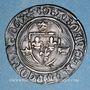 Monnaies Charles VII (1436-1461). Monnayage du duc de Bourgogne (1417-1423). Blanc à la couronne. Dijon