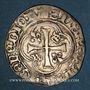 Monnaies Charles VIII (1483-1498). Blanc à la couronne, 24 avril 1488. Dijon (Coquille St-Jacques initiale)