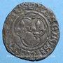 Monnaies Charles VIII (1483-1498). Denier tournois. Saint Lô (point 19e)