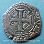 Monnaies Charles VIII (1483-1498). Liard, 2e émission. Poitiers (point 8e avers et revers)