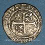 Monnaies Charles VIII (1483-1498). Liard, 2e émission. Toulouse (annelet 5e)