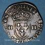 Monnaies Charles X, roi de la Ligue (1589-1590). 1/4 d'écu 1590 A