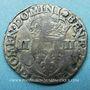 Monnaies Charles X, roi de la Ligue (1589-1590). 1/4 d'écu 1590 T. Nantes