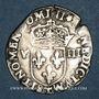 Monnaies Charles X, roi de la Ligue (1589-1590). 1/8 d'écu 1596T, point 5e et 17e. Nantes