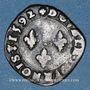 Monnaies Charles X, roi de la Ligue (1589-1590). Double tournois 1592 S. Troyes