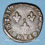 Monnaies Charles X, roi de la Ligue (1589-1590). Double tournois 1594 S. Troyes