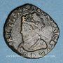 Monnaies Charles X, roi de la Ligue (1589-1590). Double tournois 1594P. Dijon