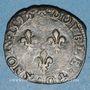 Monnaies Charles X, roi de la Ligue (1589-1590). Double tournois 1595P. Dijon