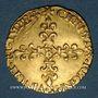 Monnaies Charles IX (1560-1574). Demi-écu d'or au soleil (17 aout 1561). 1565B. Rouen. R ! R !