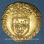 Monnaies Charles IX (1560-1574). Ecu d'or au soleil 1566K et nef, Bordeaux (date latine)