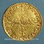 Monnaies Charles IX (1560-1574). Ecu d'or au soleil 1568 M. Toulouse
