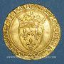 Monnaies Charles VI (1380-1422). Ecu d'or à la couronne. 1ère émission (11 mars 1385). Point 4e, Montpellier