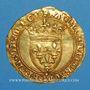 Monnaies Charles VII (1422-1461). Ecu d'or à la couronne. 1er type (21 janvier 1423). Point 16e, Tournai
