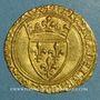Monnaies Charles VII (1422-1461). Ecu d'or à la couronne. 1er type (21 janvier 1423). Toulouse (point 5e)