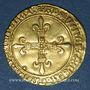 Monnaies Charles VIII (1483-1498). Ecu d'or au soleil. 1ère émission (11 septembre 1483). Paris (point 18e)