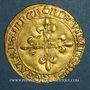 Monnaies Charles VIII (1483-1498). Ecu d'or au soleil. 2 émission (8 juillet 1494). Dijon (coquille initiale)
