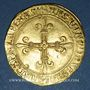 Monnaies Charles VIII (1483-1498). Ecu d'or au soleil. 2 émission (8 juillet 1494). Paris (point 18e)