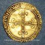 Monnaies Charles VIII (1483-1498). Ecu d'or au soleil 2e émission. Tours (point 6e)