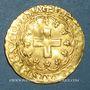 Monnaies François I (1515-1547). Ecu d'or à la croisette, 1er type. Bayonne (L et ancre)