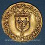 Monnaies François I (1515-1547). Ecu d'or à la croisette, 1er type. Rouen
