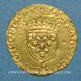 Monnaies François I (1515-1547). Ecu d'or au soleil, 12e type. L Bayonne