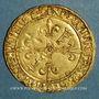 Monnaies François I (1515-1547). Ecu d'or au soleil, 2 type, 3e émission. Lyon (point 12e)