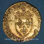 Monnaies François I (1515-1547). Ecu d'or au soleil, 5e type, 3e émission. Limoges (point 10e)