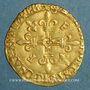 Monnaies François I (1515-1547). Ecu d'or au soleil, 5e type. Bordeaux (nef)