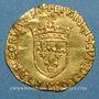 Monnaies François I (1515-1547). Ecu d'or au soleil, 5e type. Toulouse (point 5e)