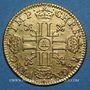 Monnaies Louis XIII (1610-1643). Demi-louis d'or 1643A. Type avec baies