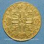 Monnaies Louis XIII (1610-1643). Demi-louis louis d'or 1641A
