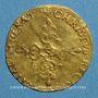 Monnaies Louis XIII (1610-1643). Ecu d'or au soleil, 1er type. 1615 S. Troyes