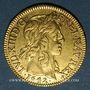 Monnaies Louis XIII (1610-1643). Louis d'or 1642 A. Type avec mèche mi-longue sans baie