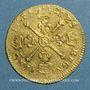 Monnaies Louis XIV (1643-1715). Louis d'or aux insignes 1704N Montpellier. Réformation