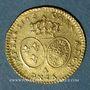 Monnaies Louis XV (1715-1774). Demi-louis d'or au bandeau 1743 A, 2e semestre