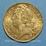 Monnaies Louis XV (1715-1774). Louis d'or au bandeau 1745 W. Lille