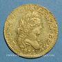 Monnaies Louis XV (1715-1774). Louis d'or aux 2 L 1722 A. Réformation