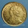Monnaies Louis XV (1715-1774). Louis d'or aux lunettes 1728 A. 2e semestre