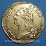 Monnaies Louis XVI (1774-1793). Double louis d'or au buste nu 1786 A. 1er semestre