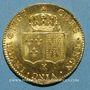 Monnaies Louis XVI (1774-1793). Double louis d'or au buste nu 1787 K. Bordeaux. 1er semestre