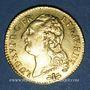 Monnaies Louis XVI (1774-1793). Louis d'or au buste nu 1785D. Lyon