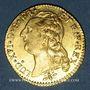 Monnaies Louis XVI (1774-1793). Louis d'or au buste nu 1786 D. Lyon. 2e semestre