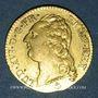 Monnaies Louis XVI (1774-1793). Louis d'or au buste nu 1786 H. La Rochelle. 2e semestre