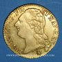 Monnaies Louis XVI (1774-1793). Louis d'or au buste nu 1786A.