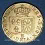 Monnaies Louis XVI (1774-1793). Louis d'or au buste nu 1787B. Rouen