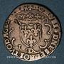 Monnaies François I (1515-1547). 1/2 teston, 25e type. Lyon