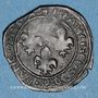 Monnaies François I (1515-1547). Double tournois à la croisette. H = La Rochelle