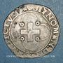 Monnaies François I (1515-1547). Douzain à la croisette. Lyon