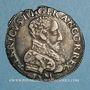 Monnaies François II (1559-1560). Monnayage au nom d'Henri II. 1/2 teston  2e type. 1559 K et nef. Bordeaux